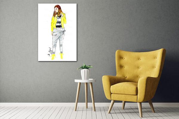 Lány sárgában